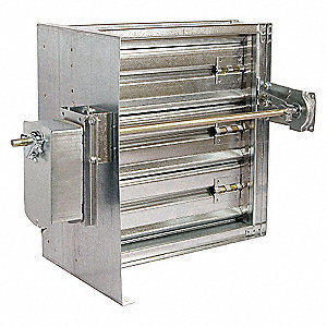 SQ SMOKE DAMPER,24V,7-3/4 IN. W