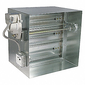 SQ FIRE/SMOKE DAMPER,23-3/4 IN. H