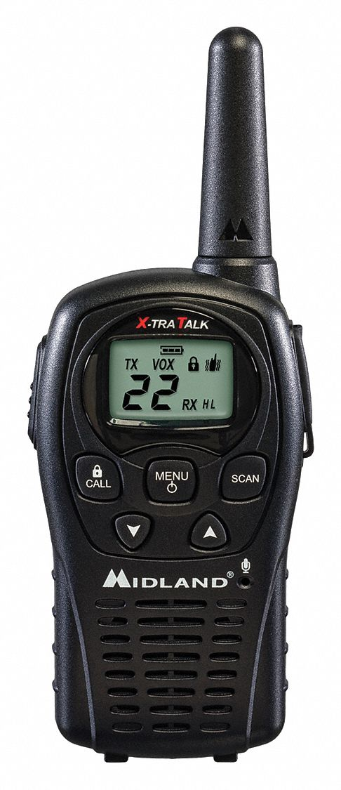 Handheld Portable Two Way Radio,  MIDLAND RADIO LXT500/535,  22,  FRS/GMRS,  Digital,  LCD
