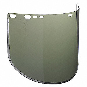 FACESHIELD ACETATE DRK GR 15-1/2X9