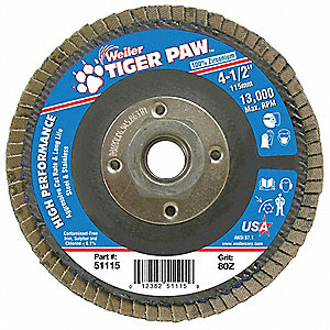 Abrasive Flap Disc, Med., 4-1/2 in.