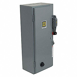 Square d nema fusible str size 0 120v coil 1 enc 31hk13 for Square d combination motor starter
