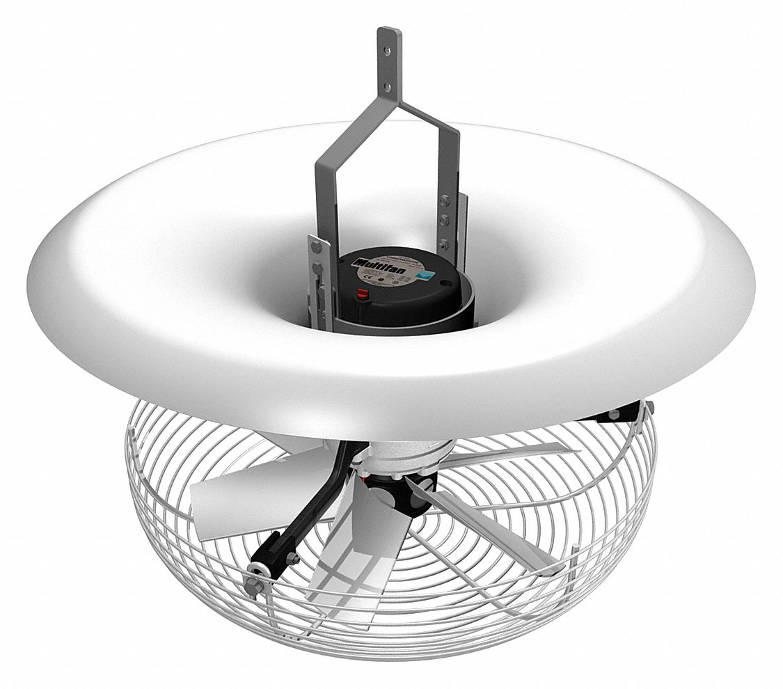 Vertical Recirculation Fan,  16 in,  Number of Blades 8,  Number of Speeds Variable,  120V AC