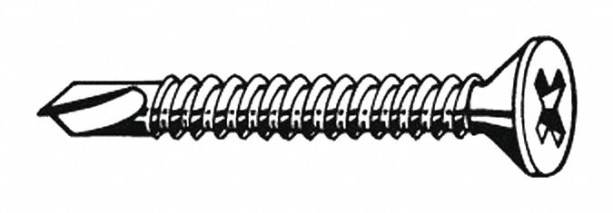 1-1//2 Length Pack of 500 Phillips Drive 1//4-14 Thread Size Plain Finish 410 Stainless Steel Self-Drilling Screw Pan Head #3 Drill Point