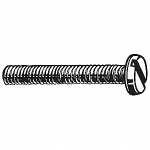 M5-0.80mm Machine Screw, Property Class 4.8 Steel, 8mm L, 100 PK