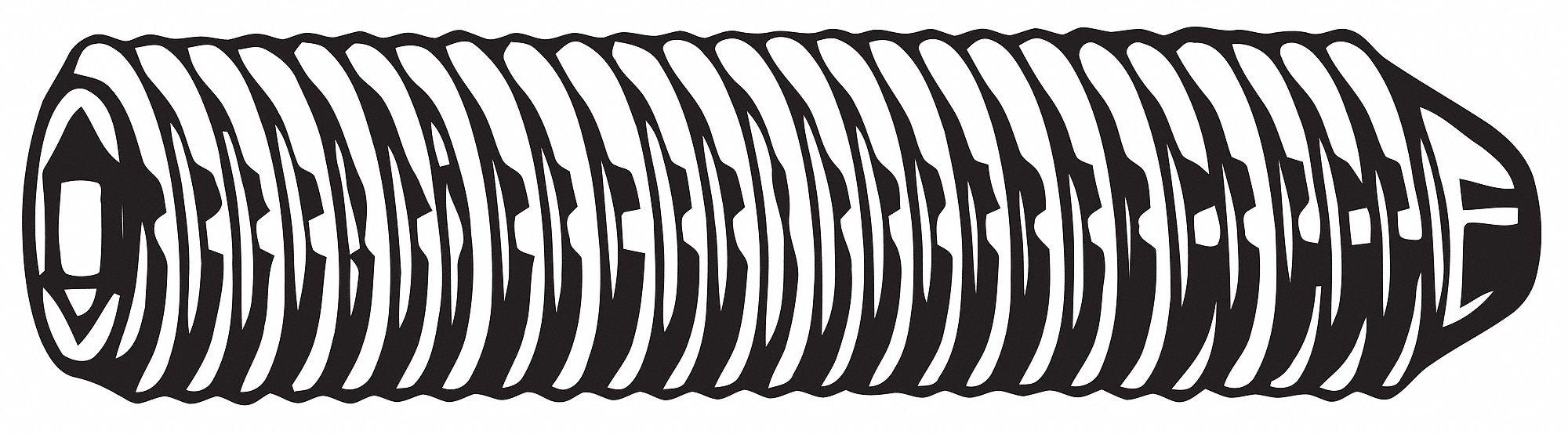 1//8 Long Pack of 100 Alloy Steel Black Oxide 6-40 UNF Thread Socket Set Screw Plain Cup Point Unbrako 45H