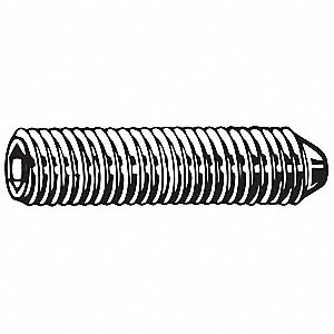 "1/2"" Alloy Steel Set Screw with Black Oxide Finish; PK100"