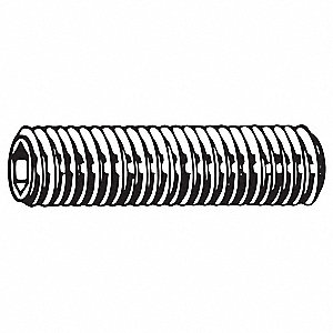 "1"" Alloy Steel Set Screw with Zinc Plated Finish; PK10"