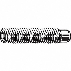 40mm A2 Stainless Steel Set Screw with Plain Finish; PK50