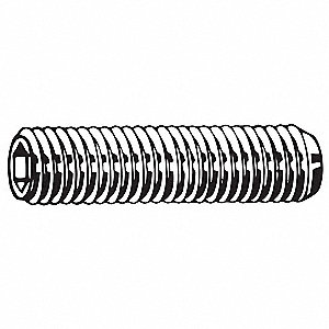 40mm Alloy Steel Set Screw with Zinc Plated Finish; PK50
