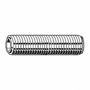 M8 x 1.25mm x 10mm Alloy Steel Set Screw with Black Oxide Finish; PK100