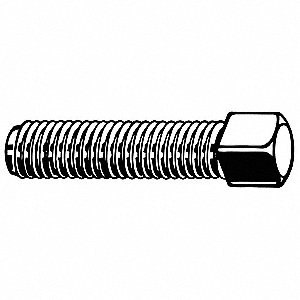 "1-1/2"" Steel Set Screw with Plain Finish; PK5"