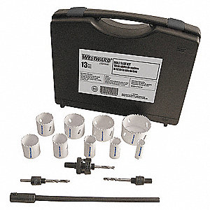 HOLE SAW MAINTENANCE KIT, 13 PCS.