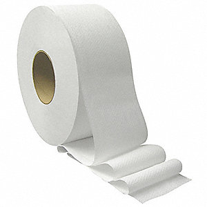 2 Ply Jumbo Toilet Paper, 1000 ft., 12PK