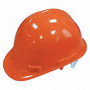Front Brim Hard Hat, 4 pt. Pinlock Suspension, Hi-Visibility Orange, Hat Size: 6 to 7-1/8
