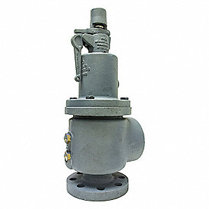 Cast Iron Safety Relief Valve, 250# Flange Inlet Type, FNPT Outlet Type