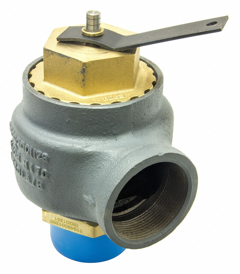Cast Iron Safety Relief Valve, MNPT Inlet Type, FNPT Outlet Type