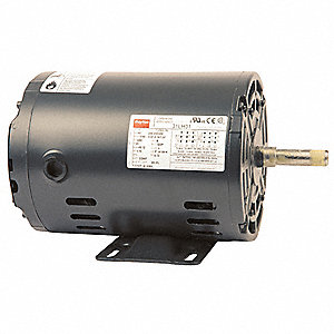 2 HP General Purpose Motor,3-Phase,3510 Nameplate RPM,Voltage 208-230/460,Frame 56H
