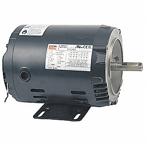 1/2 HP General Purpose Motor,3-Phase,1155 Nameplate RPM,Voltage 230/460,Frame 56C