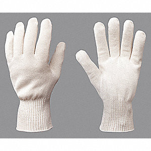 Heat Resistant Gloves, Polyester/Cotton, 400°F Max. Temp., S, PR 1