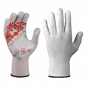 Polyurethane Cut Resistant Gloves, ANSI/ISEA Cut Level 4 Lining, White, XL, PR 1