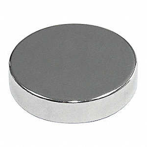 Disc Magnet,Neodymium,1/4 in.