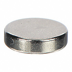 Disc Magnet,Neodymium,7/64 in.