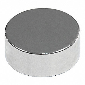 Disc Magnet,Neodymium,3/8 in.