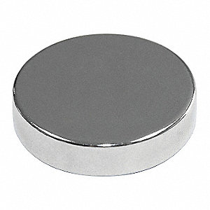 Disc Magnet,Neodymium,1/16 in.