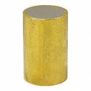 Brass Shielded Magnet,1/2 in.
