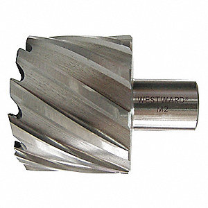 "1"" X 1-1/4"" High Speed Steel, Uncoated Annular Cutter, Weldon Drive,  3/4"" Shank Dia."