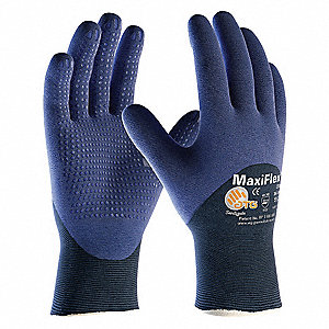 18 Gauge Coated Gloves, Blue