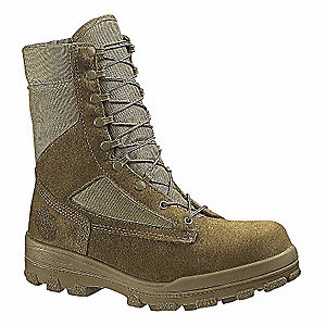 Military/Tactical Tactical Boots, Toe Type: Steel, Olive Mojave, Size: 9-1/2