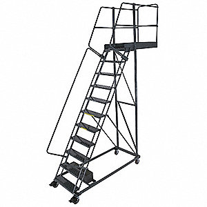 Cantilever Ladder,300lb,152in H,11 Steps