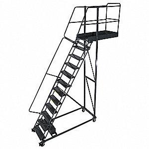 Cantilever Ladder,300lb,162in H,12 Steps