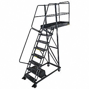 Cantilever Ladder,300lb,122in. H,8 Steps