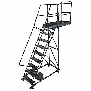 Cantilever Ladder,300lb,132in. H,9 Steps
