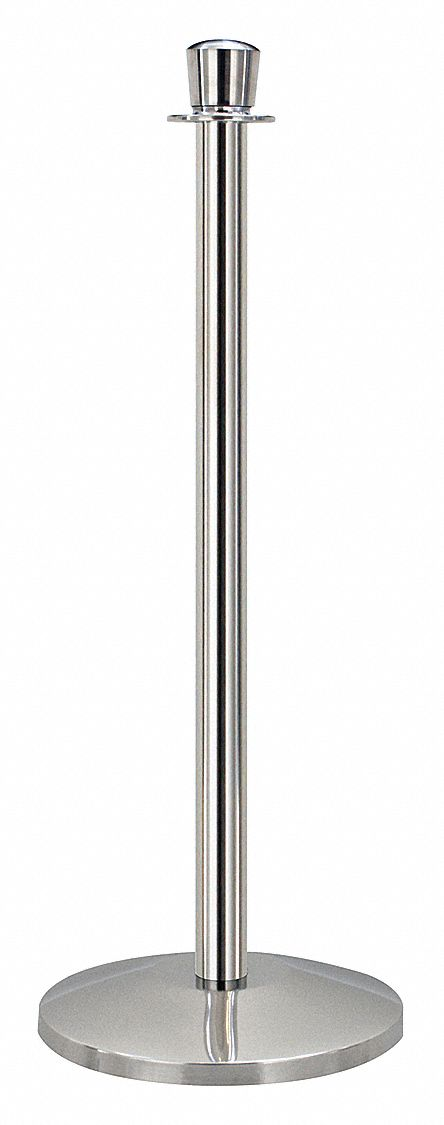 Urn Top Rope Post, Polished Stainless Steel, Polished Stainless Steel Post Finish, 39 in Height