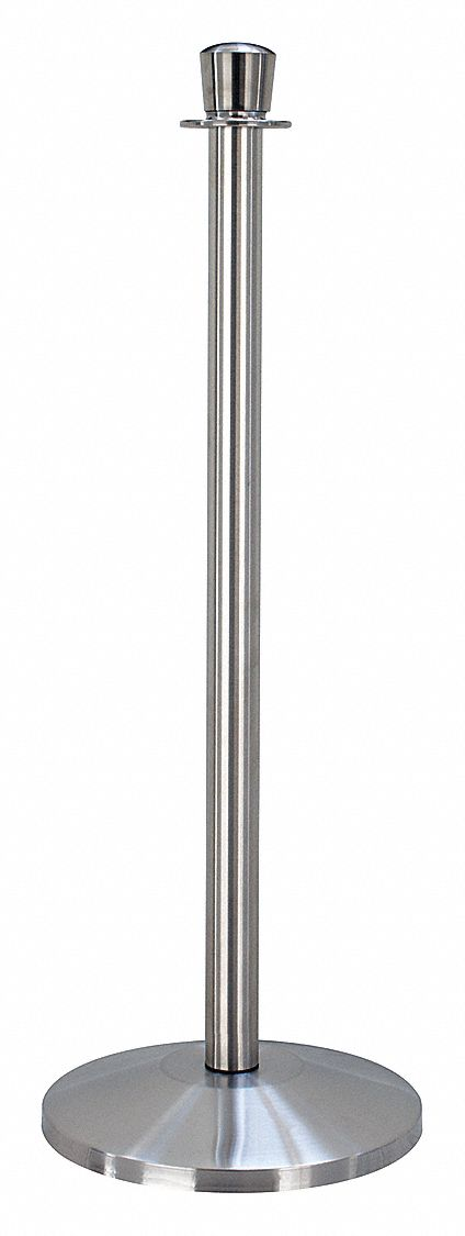 Urn Top Rope Post, Satin Stainless Steel, Satin Stainless Steel Post Finish, 39 in Height