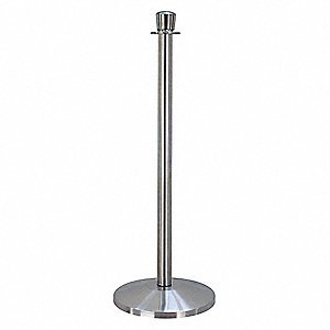 "Urn Top Rope Post, Satin Stainless Steel, Satin Stainless Steel Post Finish, 39"" Height"