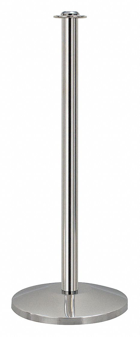 Contemporary Top Post, Polished Stainless Steel, Polished Stainless Steel Post Finish, 39 in Height
