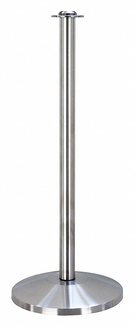 Contemporary Top Post, Satin Stainless Steel, Satin Stainless Steel Post Finish, 39 in Height