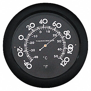ANALOG THERMOMETER,-40-120 DEGREE F