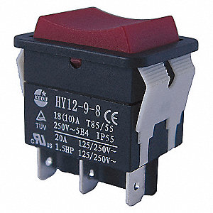 ROCKER SWITCH,SPDT,3 CONNECTIONS