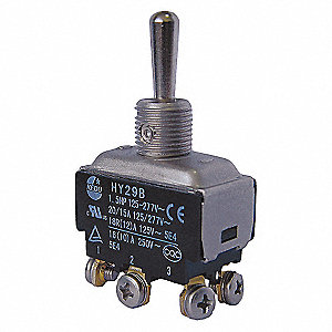 TOGGLE SWITCH,DPDT,6 CONNECTIONS