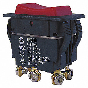 ROCKER SWITCH,DPDT,6 CONNECTIONS