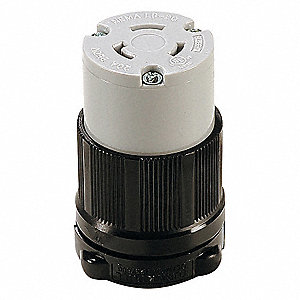 LOCKING CONN,L6-20R,20A,250V,2 HP