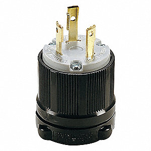 LOCKING PLUG,L6-30P,30A,250V,2 HP