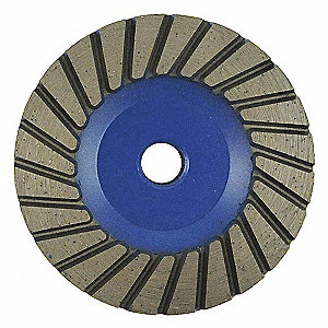 "4"" Turbo Segment Cup Grinding Wheel, 5/8""-11 Arbor, 13,700 Max. RPM, Segments: 24"