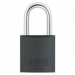 Black Lockout Padlock, Different Key Type, Aluminum Body Material